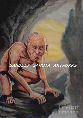Catherine Jackson Painting - Gollum by Sandeep Kumar Sahota