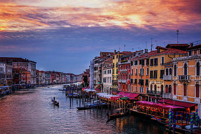 Gondola Photograph - Gondola On The Grand Canal by Andrew Soundarajan