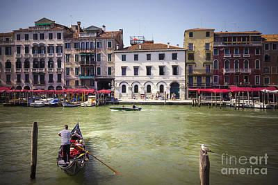 Piazza Mixed Media - Gondola Sailor by Svetlana Sewell