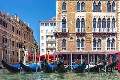 Piazza Mixed Media - Gondolas by Svetlana Sewell