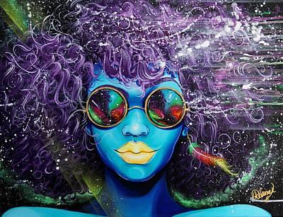 Hair Painting - Gone  by Aramis Hamer
