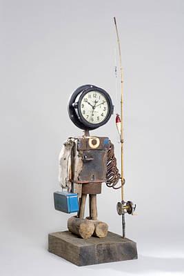 Art Sculpture - Gone Fishin by Benjamin Bullins