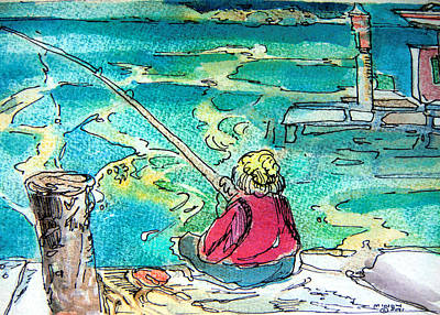 Gone Fishing Original by Mindy Newman