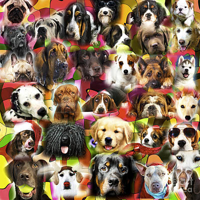 Dog Artist Digital Art - Good Boys by John Rizzuto