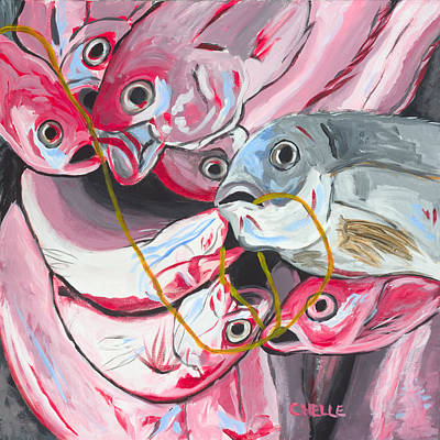 Painting - Good Catch by Chelle Fazal