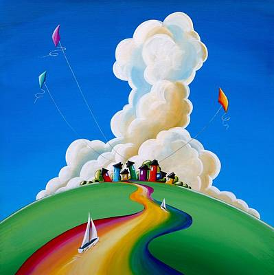 Kites Painting - Good Day Sunshine by Cindy Thornton