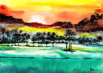 Good Evening 2 Print by Anil Nene