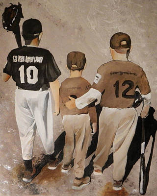 Fastball Painting - Good Game Guys by Steven Williford