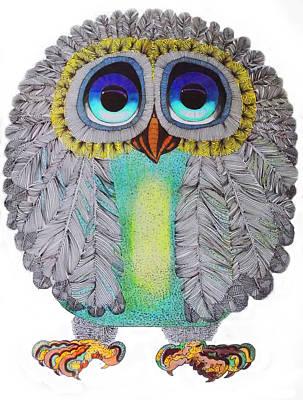 Good Luck Owl Print by Hans Wolfgang Muller Leg
