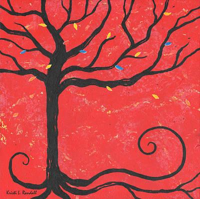 Good Luck Tree - Left Original by Kristi L Randall
