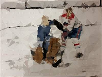 Vintage Hockey Print by Shaun Groenesteyn