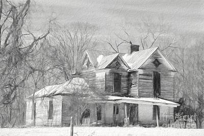 Haunted House Photograph - Good Place For A Ghost 2 by Benanne Stiens