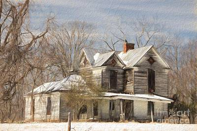 Abandoned House Photograph - Good Place For A Ghost by Benanne Stiens