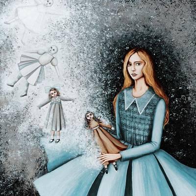 Goodbye  To Dolls Print by Graciela Bello
