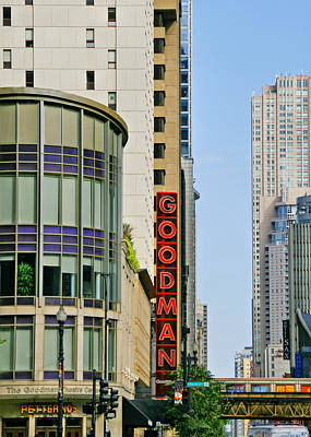Goodman Memorial Theatre Chicago Print by Christine Till
