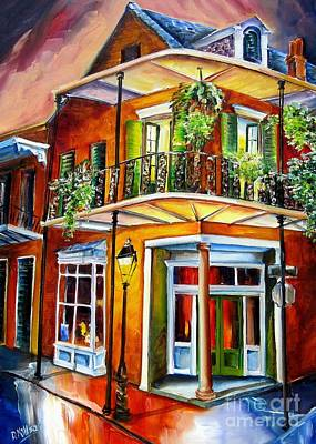 New Orleans Oil Painting - Goodnight New Orleans by Diane Millsap