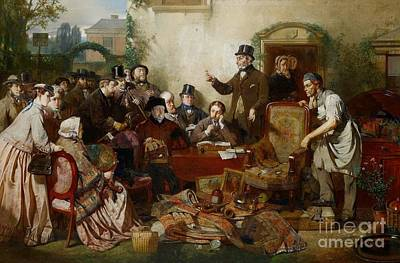 Ritchie Painting - Goods In Auction by John Ritchie