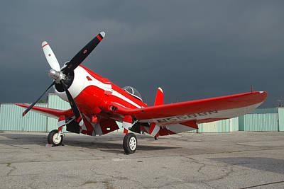 Goodyear F2g-1 Corsair N5588n Print by Brian Lockett