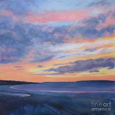 Maine Painting - Goose Rocks Beach Morning by Lynne Schulte