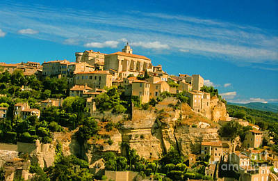 Gordes, Provence Print by Christopher Price