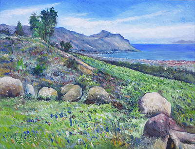 Painting - Gordon's Bay Cape Town South Africa by Enver Larney
