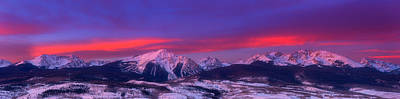Gore Range Photograph - Gore Range Sunrise by Darren  White