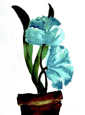 Light And Dark Painting - Gorgeous Flowers by Marsha Heiken