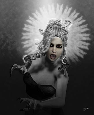 Gorgon Digital Art - Gorgon by Joaquin Abella