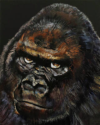 Manga Painting - Gorilla Skull by Michael Creese