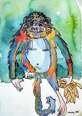 Gorilla Mixed Media - Gorilla Of My Dreams by Mindy Newman