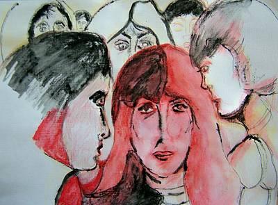 Gossip Print by Judith Redman
