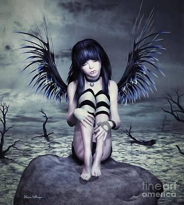Digital Art - Goth Fairy by Alicia Hollinger