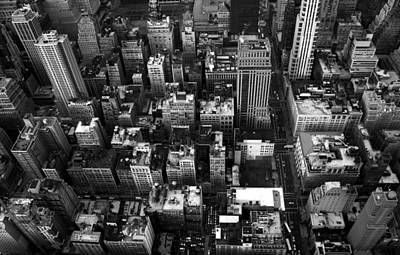Gridlock Photograph - Gotham From Above by William  Todd