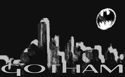 Batman Digital Art - Gotham Moon by Coconut Lime Design