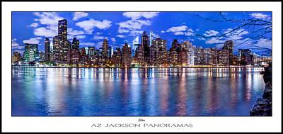 New York Skyline Photograph - Gothem Poster Print by Az Jackson