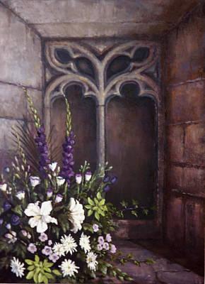 Gothic Wedding Bouquet Print by Sean Conlon