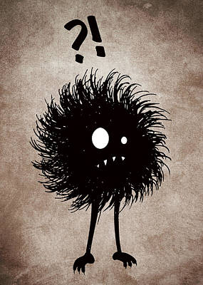 Halloween Digital Art - Gothic Wondering Evil Bug Character by Boriana Giormova