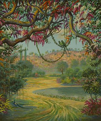 Raja Painting - Govardhan Hill by Vrindavan Das