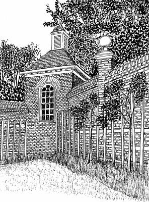 Governor's Palace, Trellises Print by Dawn Boyer