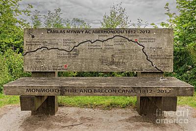 Photograph - Goytre Wharf Seat Map by Steve Purnell