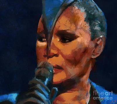 Painting - Grace Jones by Sergey Lukashin