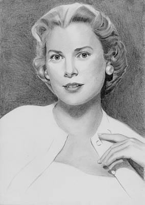 Grace Kelly Drawing - Grace Kelly by Eniko Tanyi