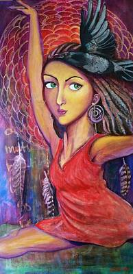 Dreamcatcher Painting - Grace - The Cosmic Dancer by Asia Morgenthaler