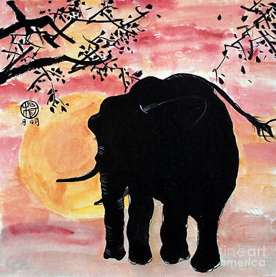 Poachers Painting - Graceful Giant by Ming Yeung