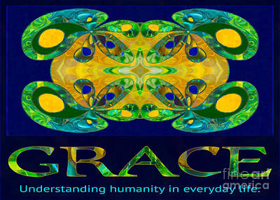Graceful Humanity Spiritual Artwork By Omashte Print by Omaste Witkowski
