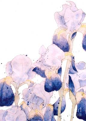 Watercolor With Pen Painting - Graceful Iris by Gail Maguire