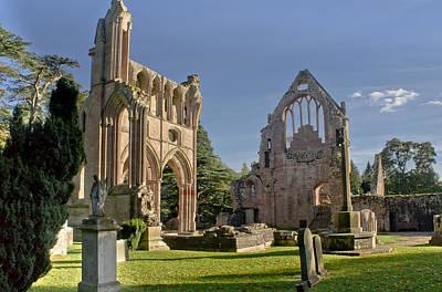 Graceful Ruins. Dryburgh Abbey. Print by Elena Perelman