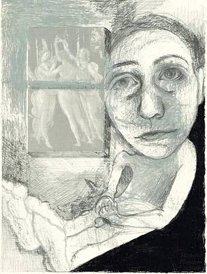 Doubting Drawing - Graces by Michelle Flanagan