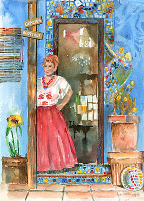 Woman Painting - Gracie's Boutique by Arline Wagner