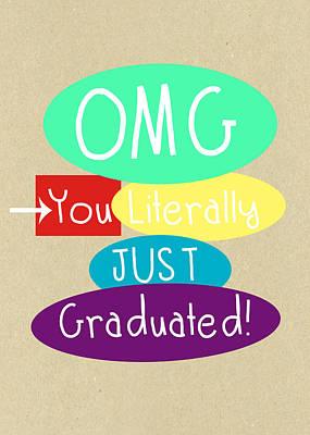 Graduation Mixed Media - Graduation Card by Linda Woods